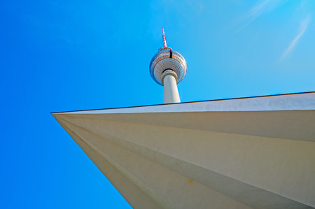tv tower: Different view of the TV Tower in Berlin Stock Photo