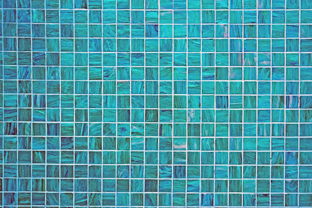 marble: A blue square tiled background with small mosaic tiles Stock Photo