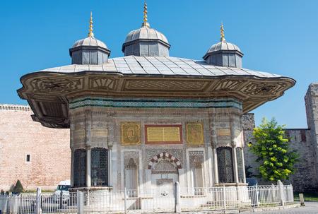 iii: The Fountain of Ahmed III in Istanbul Sultanahmet, Turkey