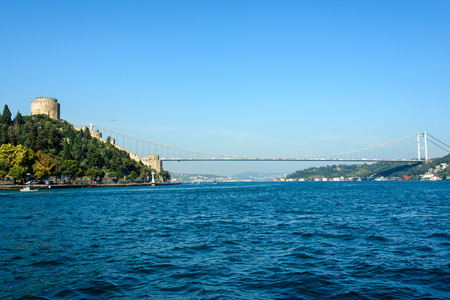 hisari: The Bosphorus and the Rumelian castle in Istanbul, Turkey Editorial