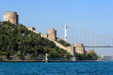 hisari: The Rumelian castle and the Bosphorus in Istanbul