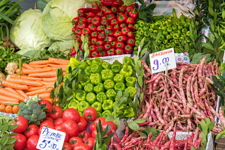 kadikoy: Great choice of vegetables at a market in Istanbul, Turkey