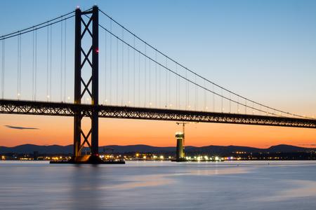 forth: The Forth Road Bridge in Scotland Stock Photo
