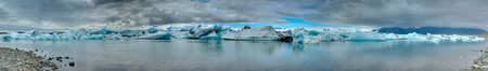 glaciar: Panorama of the Jokulsarlon lagoon in Iceland glaciar