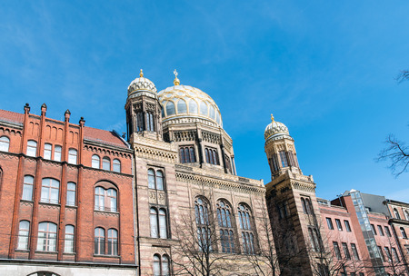 synagogue: The amazing New Synagogue in Berlin, Germany Editorial