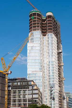 Construction site of a skyscraper lakes in Berlin