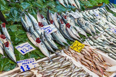 kadikoy: Fish market with a great offer in Istanbul, Turkey