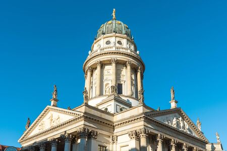 dome type: The German Cathedral at the Gendarmenmarkt in Berlin, Germany
