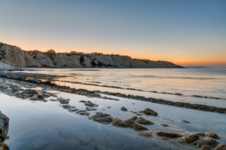mudstone: Sunrise at the Scala dei Turchi in Sicily