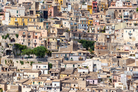 ragusa: Detail of the world heritage town Ragusa Ibla in Sicily, Italy Stock Photo