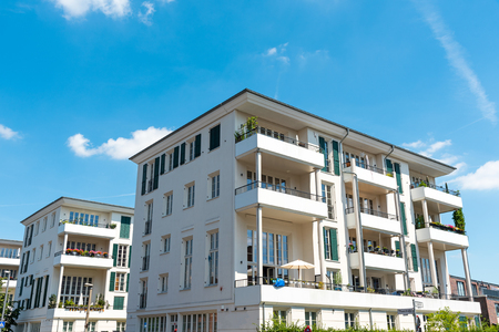 multifamily: New multi-family houses seen in Berlin, Germany Stock Photo