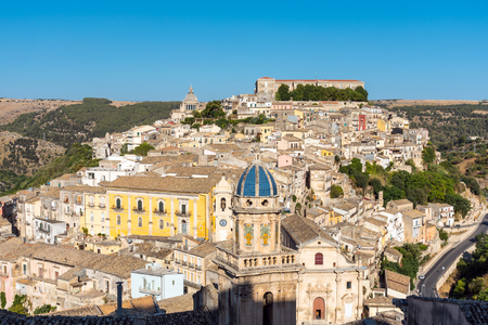 ragusa: The beautiful baroque town of Ragusa Ibla in Sicily, Italy Stock Photo
