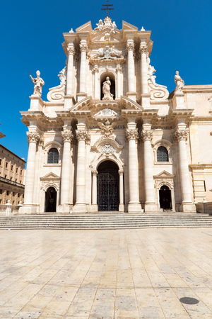 The cathedral of Syracuse in Sicily, Italy Stock Photo