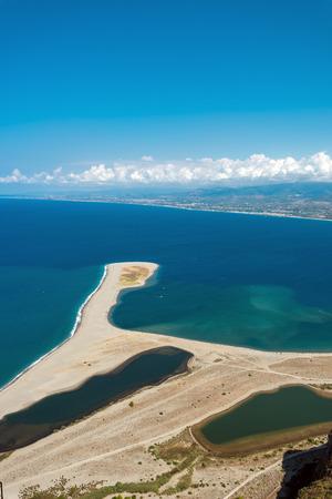 The Tindari beach at the north coast of Sicily, Italy