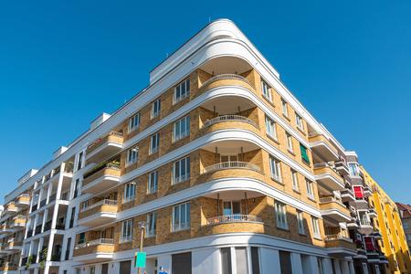 apartment block: Modern apartment block seen in Berlin, Germany