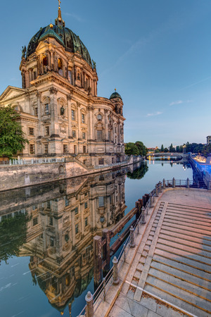 spree: The Cathedral of Berlin and the river Spree