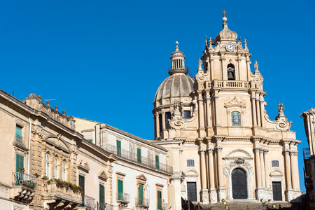 ragusa: The baroque cathedral in Ragusa Ibla, Sicily