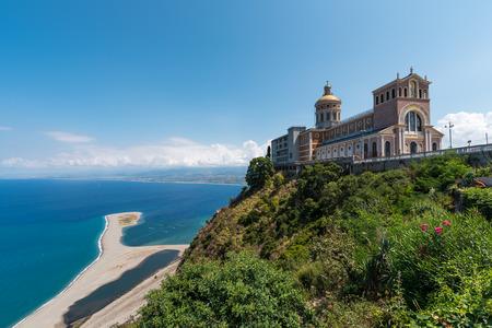 The famous sanctuary and the beach in Tindari, Sicily Banco de Imagens