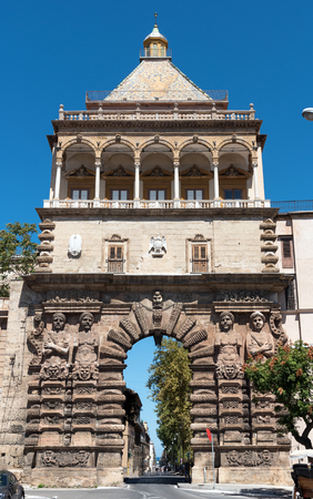 The historic Porta Nuova in Palermo, Sicily Editorial