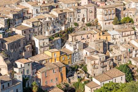 solidify: Detail of the city of Ragusa Ibla in Sicily, Italy Stock Photo