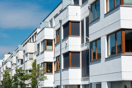upscale: White serial houses seen in Berlin, Germany