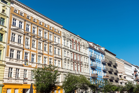 Renovated old apartment buildings at the Prenzlauer Berg district in Berlin