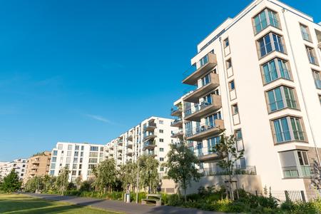Modern housing development area in Berlin, Germany