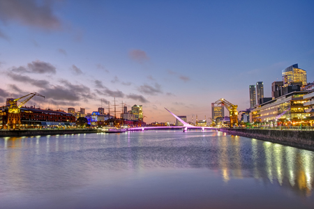 economic cycle: Puerto Madero in Buenos Aires, Argentina, at sunset
