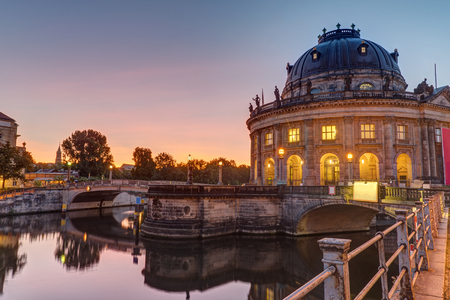 bode: The Bode Museum on the Museum Island in Berlin at sunrise