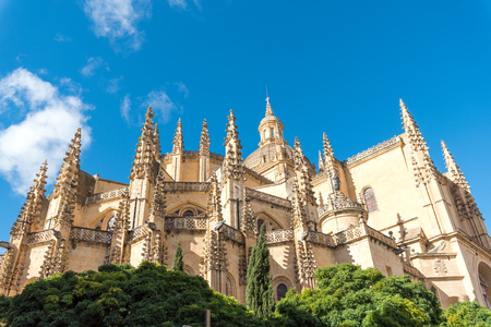 The imposing cathedral of Segovia in Spain