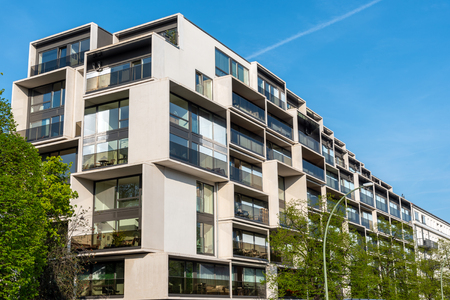 Modern luxury residential construction at the Prenzlauer Berg district in Berlin, Germany