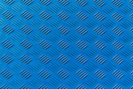 Background from a blue ribbed metal sheet Stock Photo