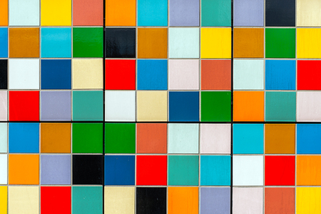 A nice backgorund from colorful rectangular tiles 스톡 콘텐츠