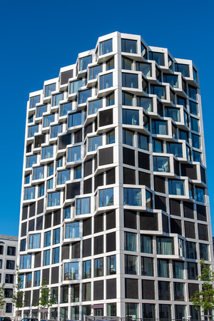 Modern high-rise residential building in Munich, Germany