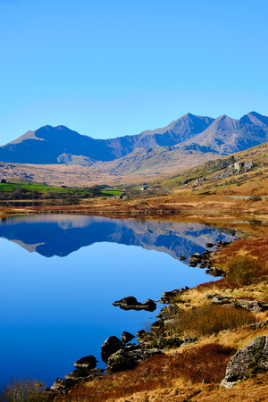 Landscape in the Snowdonia National Park in Wales, Great Britain Stock Photo