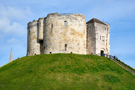 The historic Cliffords Tower in York, Great Britain