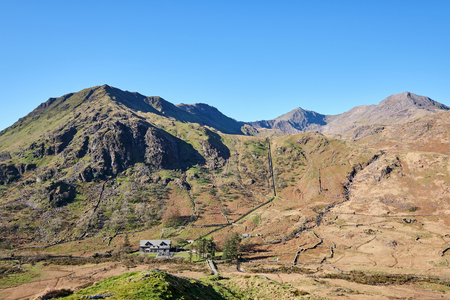 Mount Snowdon at the Snowdonia National Park in Wales, United Kingdom