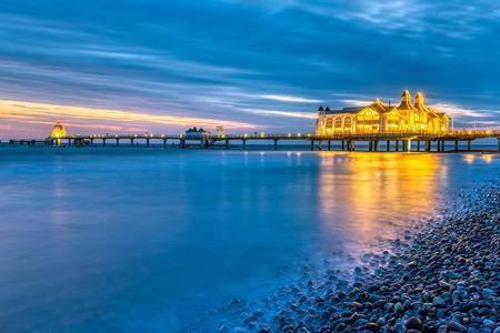 The sea pier of Sellin on Ruegen island in Germany at a beautiful dawn