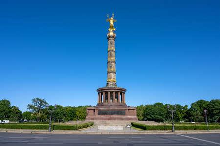 The famous Victory Column in the Tiergarten in Berlin, Germany