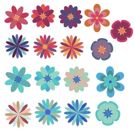 Flores decorativas conjunto