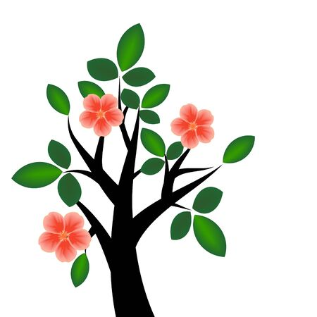 Branch with blossom Vector