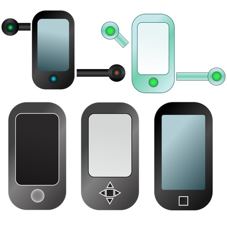 Abstract mobile devices icon set Stock Vector - 13296044