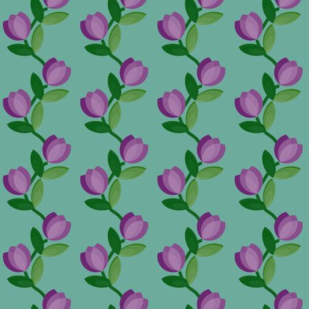 Seamless floral curves pattern Vector
