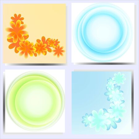 Set of 4 abstract backgrounds Stock Vector - 13296017