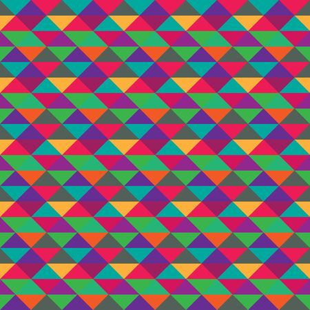 Seamless triangle geometric multicolored pattern Vector