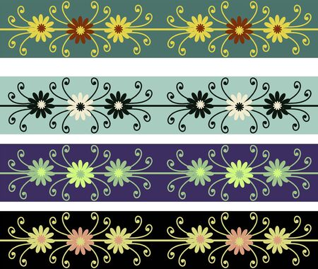 Set of abstract retro ornaments Stock Vector - 13605011