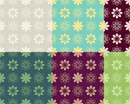 variants: Abstract seamless pattern color variants