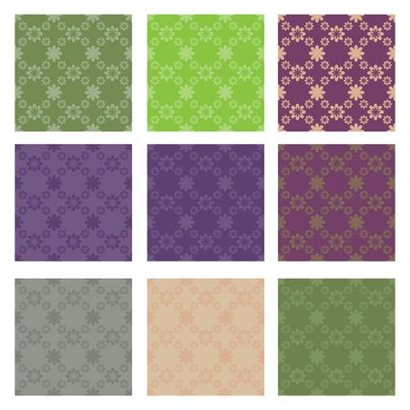 Diamond floral seamless patterns Vector