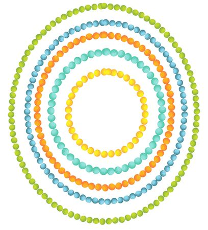 Beads borders Stock Vector - 13842318