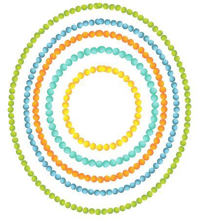 Beads borders Stock Vector - 13842318